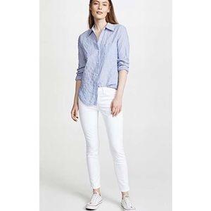 Anthro Current Elliot the stiletto white jeans